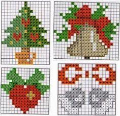 Xmas Cross Stitch, Cross Stitch Christmas Ornaments, Cross Stitch Cards, Christmas Embroidery, Cross Stitch Kits, Christmas Cross, Cross Stitch Designs, Cross Stitching, Cross Stitch Embroidery