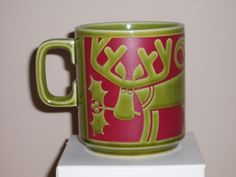 Rare Hornsea Mug John Clappison Eskimo & Reindeer (1972) ideal for Christmas