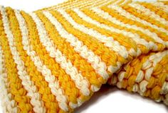Love, love this blanket!! Hand Knit Baby Blanket  Soft Cotton Bright by lemonsandcream, $35.00