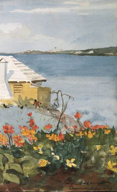 Detail. Flower Garden and Bungalow, Bermuda. Artist:Winslow Homer (American, Boston, Massachusetts 1836–1910 Prouts Neck, Maine). Date:1899. Medium:Watercolor and graphite on off-white wove paper.