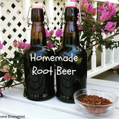 How to Brew Homemade Traditional Root Beer - Healthy Home Economist Make Your Own Beer, Brew Your Own, Root Beer Bottle, Coffee Bottle, Sassafras Root, Gallon Glass Jars, Fancy Drinks, Soda Bottles, Cold Brew
