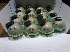 Snow Men cakes