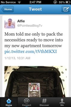 Ahahaha Alfie is is so amazing I love him! If you havent look him up go, even if ur not a directioner