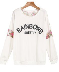 16.67€  Shop White Long Sleeve Lace Letters Print Sweatshirt online. Sheinside offers White Long Sleeve Lace Letters Print Sweatshirt & more to fit your fashionable needs. Free Shipping Worldwide!