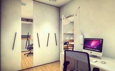Home-office. #willalindego  #homeoffice #interiordesign #design #interior #architecture #interiordesigner #warsaw #custom #made #furniture #custommade #mirrors #black #and #white #natural #oak #ProjektowePola