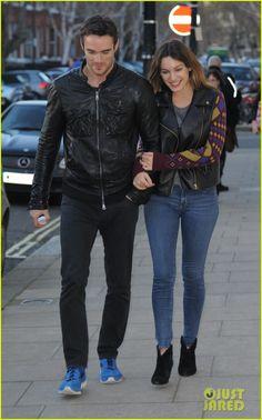 Kelly Brook: Birthday Stroll with Boyfriend Thom Evans!