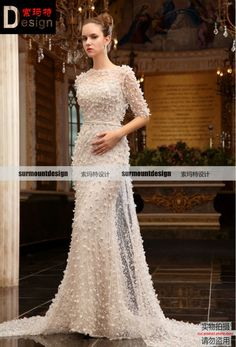 >> Click to Buy << Surmount professional  real sample long luxurious sleeves full beadings  evening  dresses #Affiliate