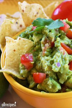 "Yummy Guacamole | ""My husband begs me to make this all the time and my 2-year-old can't get enough of it! It never lasts for more than a day in our house. If you like guacamole, you will LOVE this recipe. My sister and I have been tweaking it for years and finally have come up with the best recipe ever. """