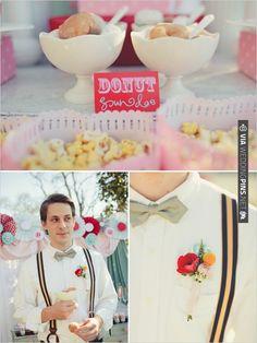 donut sundae - now come on! how cute is that? i've never seen a donut sundae!   VIA #WEDDINGPINS.NET