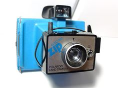 Polaroid Land Electric Zip Camera blue - Vintage camera - instant camera - colorpack - polaroid 80 on Etsy, $39.00