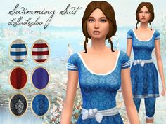 Victorian Swimsuit for Sim ladies by LollaLeeloo
