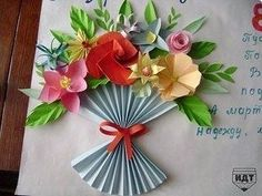 Paper Flower Bouquet Craft for Kids – Back to School Crafts – Grandcrafter – DIY Christmas Ideas ♥ Homes Decoration Ideas Easter Crafts, Diy And Crafts, Crafts For Kids, Spring Art, Spring Crafts, Fabric Flowers, Paper Flowers, Drawing Flowers, Back To School Crafts
