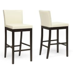Baxton Studio Graymoor Cream Modern Bar Stool (set Of 2)
