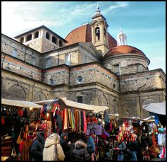 The Mercato San Lorenzo, an open air market that leads from Piazza San Lorenzo to the Mercato Centrale