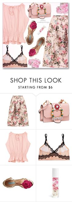 """Pretty Underpinnings"" by arohii ❤ liked on Polyvore featuring Ted Baker, Miu Miu, Mimi Holliday by Damaris, Betsey Johnson, Blossom, The French Bee and prettyunderpinnings"