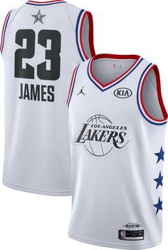 Jordan Men s 2019 NBA All-Star Game LeBron James White Dri-FIT Swingman  Jersey 2a8cab416