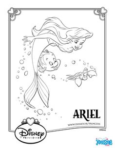 little Mermaid Coloring Pages. On this page, you can find The Little Mermaid coloring pictures. You can print then color them as you like. Ariel Coloring Pages, Mermaid Coloring Book, Disney Princess Coloring Pages, Disney Princess Colors, Disney Colors, Coloring Pages For Girls, Cartoon Coloring Pages, Coloring Book Pages, Printable Coloring Pages