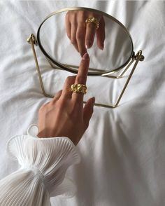 Exuding elegance, the gold-plated Emery Ring features a sculptural design that's perfect for stacking or worn as a feature on its own. Cream Aesthetic, Gold Aesthetic, Classy Aesthetic, Aesthetic Photo, Aesthetic Pictures, Aesthetic Vintage, Jewelry Photography, Creative Photography, Photography Poses