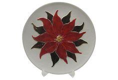 Holland Mold Poinsettia Plate on OneKingsLane.com