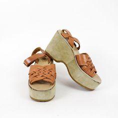 new products 680c4 0af99 70s platform sandals 7   woven leather flatforms