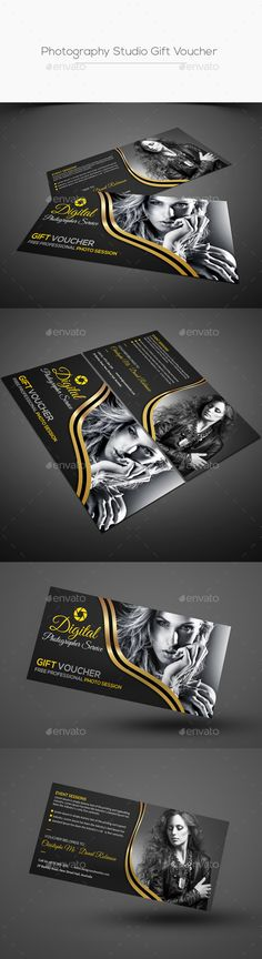 Photography Studio Gift Voucher Template PSD #design Download: http://graphicriver.net/item/photography-studio-gift-voucher/13976103?ref=ksioks