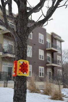 DIY Yarnbombing Kit. Colorful Crochet Graffiti. Handmade Outdoor Art.
