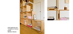 Lighting at Atelier 688 Plywood Shelves, Bookshelves, Green Rooms, Shelving, Laundry, Lounge, Lighting, Diy, Furniture