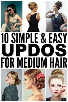 This collection of simple and easy updos for medium length hair is perfect for any occasion - weddings, prom, formal events, or casual drinks with the girls. We've included updos with braids, half-up, half-down ideas, and messy looks, and I speak from experience when I say these looks work with bangs (both blunt and side bangs). Check out these step-by-step tutorials and say yes to sexy hair!