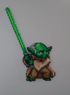 Next character from Star Wars, which is Yoda. Been using a lot of green lately, which I'm starting to like more and more. I'd like to remake this at some point, making his skin solely with li...