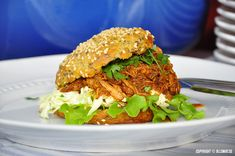 Pulled chicken med coleslaw - Powered by @ultimaterecipe