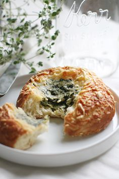 Spinach and Cheese Brioche, Macrina Bakery