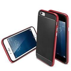 ギジGIZEE iPhone 6 6S 専用 耐衝撃 軽量 ネオ ハイブリッド 二重構造 スリム ケースレッド