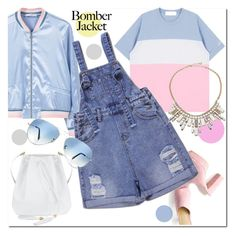 """""""Bomber Jackets"""" by ilona-828 ❤ liked on Polyvore featuring MANGO, ABS by Allen Schwartz, Ray-Ban and bomberjackets"""