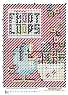 Froot Loops x-stitch Plastic Canvas Tissue Boxes, Plastic Canvas Crafts, Plastic Canvas Patterns, Stitch Cartoon, Vintage Cross Stitches, Craft Show Ideas, Vintage Signs, Cross Stitching, Cross Stitch Patterns