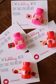 Bubble Valentine with FREE printable // Love This Crazy Life