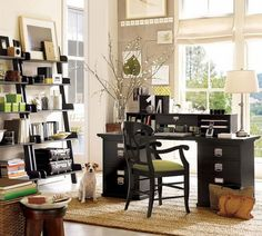 38 best Pottery Barn Office images on Pinterest | Home office space ...