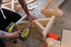 DIY X-Brace Bench | Step 2
