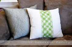 Southern Lovely: Painted pillow