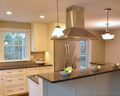 White Cabinetry Kitchen with Island,   by Designs by SKill, LLC  www.designsbyskill.com  www.facebook.com/designsbyskill