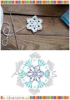Captivating All About Crochet Ideas. Awe Inspiring All About Crochet Ideas. Crochet Snowflake Pattern, Christmas Crochet Patterns, Crochet Snowflakes, Crochet Flower Patterns, Crochet Flowers, Crochet Diagram, Crochet Motif, Crochet Doilies, Irish Crochet