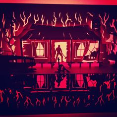 Paper Dandy Horrorgami: the Evil Dead Kirigami, Dandy, Happy Halloween, Street Art, Horror, Neon Signs, Sculpture, Paper, Instagram Posts