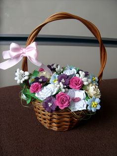 flower paper basket a mini-version