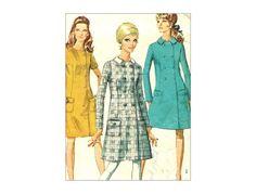 Mod A Line Dress Vintage Sewing Pattern 1960s by MaddieModPatterns, $8.95