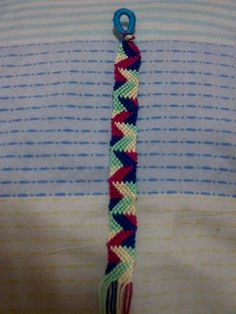 Abstract-looking, retro-colored Friendship Bracelet a.k.a. Picasso Bracelet