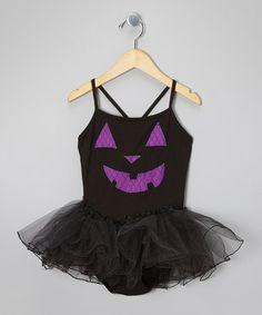 Another great find on #zulily! Black & Purple Jack-o'-Lantern Tutu Dress - Toddler & Girls #zulilyfinds