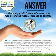 Answer 4: Is there any profit/revenue/money to be made from the meter/increase on Tariffs?