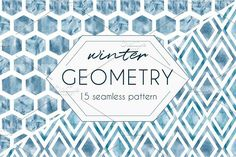 Winter GEOMETRY pattern set by Miraclesshop on @creativemarket