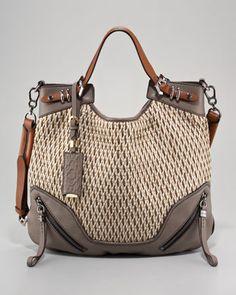 These Oryany purses are my new obsession! :)  Oryany Regina Raffia Shoulder Bag - Neiman Marcus
