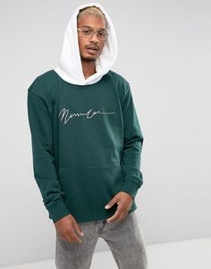 Get this Mennace's hooded sweatshirt now! Click for more details. Worldwide shipping. Mennace Drop Shoulder Hoodie In Green - Grey: Hoodie by Mennace, Soft-touch sweat, Fixed hood, Contrast design, Dropped shoulders, Over-the-head style, Menace branding to chest, Long sleeves, Pouch pocket, Fitted trims, Oversized fit - falls generously over the body, Machine wash, 100% Cotton, Our model wears a size Medium and is 185.5cm/6'1 tall. With a focus on smart/casual designs and premium details…