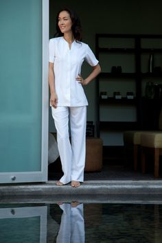 Yeah baby spa uniforms for massage therapists and skin for Spa uniform online